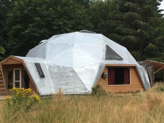 Domed Roof spray foam insulation Portland Oregon