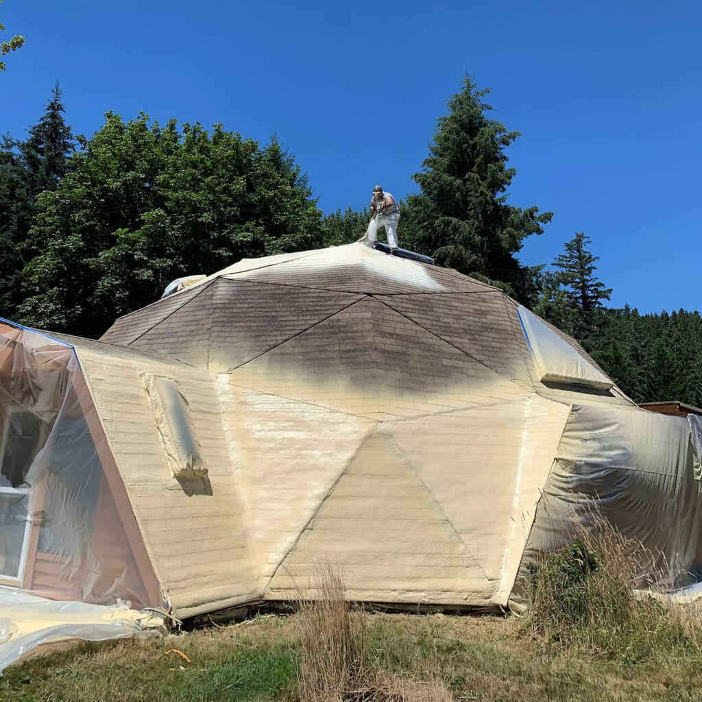 Premier Spray Foam Roofing Insulation in Portal Oregon for Geodesic and Dome Houses